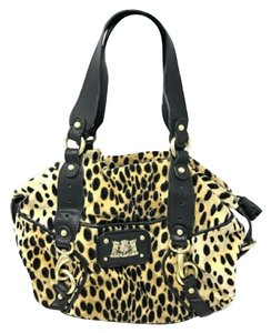 Juicy Couture Velour Leather Cheetah Print Animal Print Hobo Bag