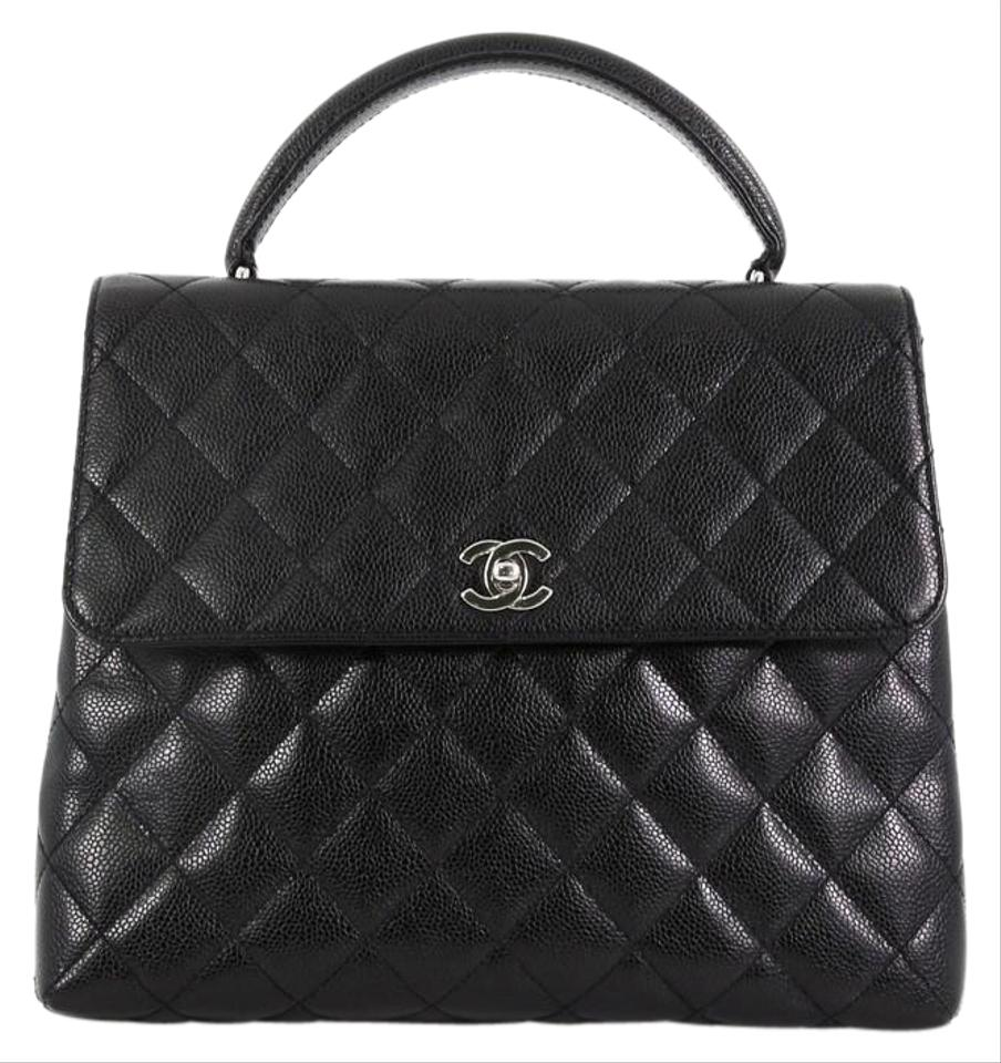 9a49dd9d8615e3 Chanel Classic Flap Vintage Classic Top Handle Quilted Caviar Jumbo ...