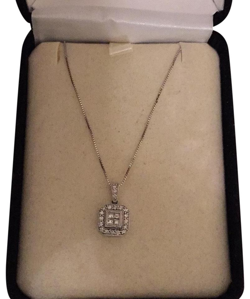 b23fd070a Kay Jewelers White Gold and Diamond Necklace - Tradesy