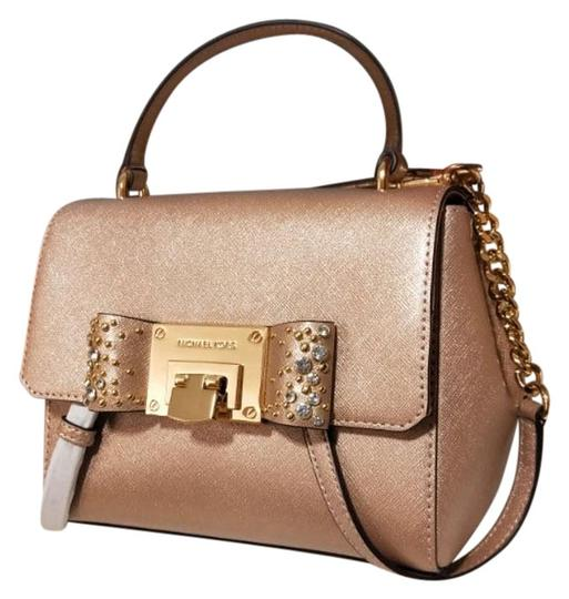 Preload https://img-static.tradesy.com/item/24573663/michael-kors-crossbody-w-tina-ballet-rose-gold-leather-satchel-0-1-540-540.jpg