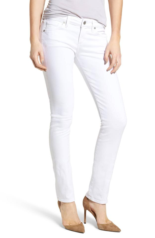 ced1852d8bcd Citizens of Humanity White Light Wash Racer Lowrise Skinny Jeans ...
