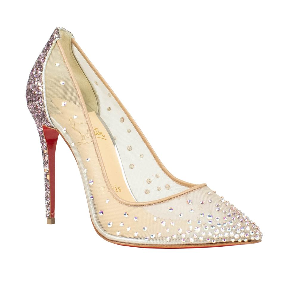new arrival dcdc0 c4793 Christian Louboutin Purple Follies Strass 100mm Glitter Heel Pumps Size EU  35.5 (Approx. US 5.5) Regular (M, B) 9% off retail