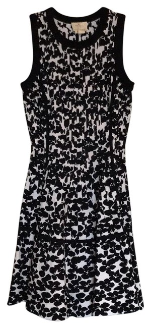 Item - Black White And Mid-length Work/Office Dress Size 4 (S)
