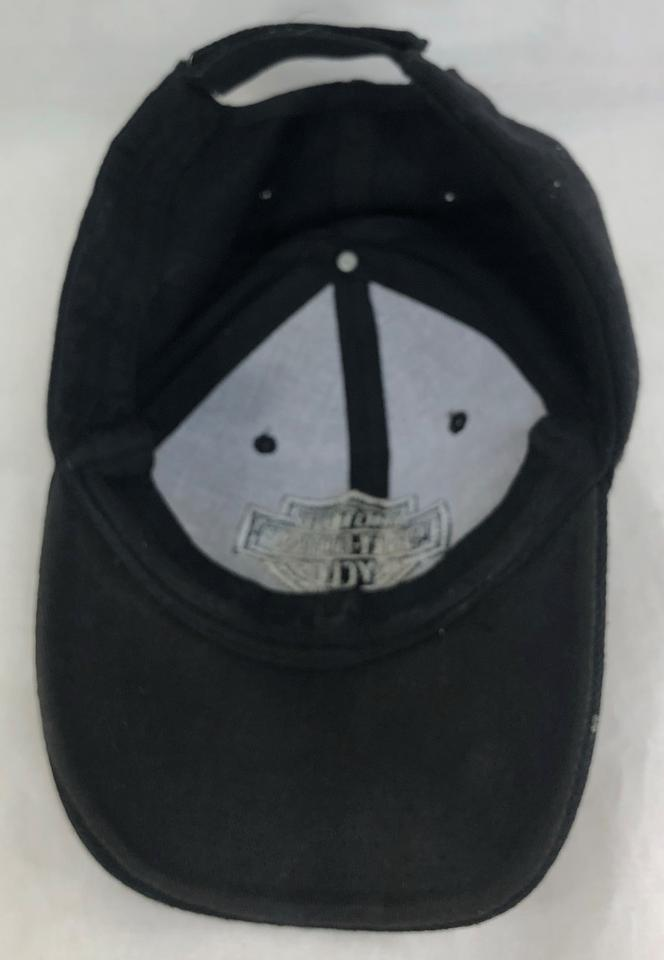 Harley Davidson Black Baseball Cap Gray Embroidery Adjustable Hat ... 01e5566c3d6