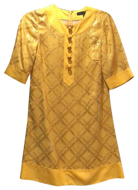 Item - Yellow Gold Shift Short Cocktail Dress Size 0 (XS)