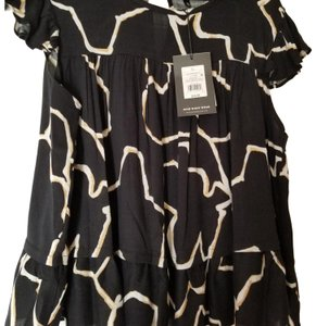 Who What Wear x Target New With Tags Plus-size Short-sleeved Top Black multi
