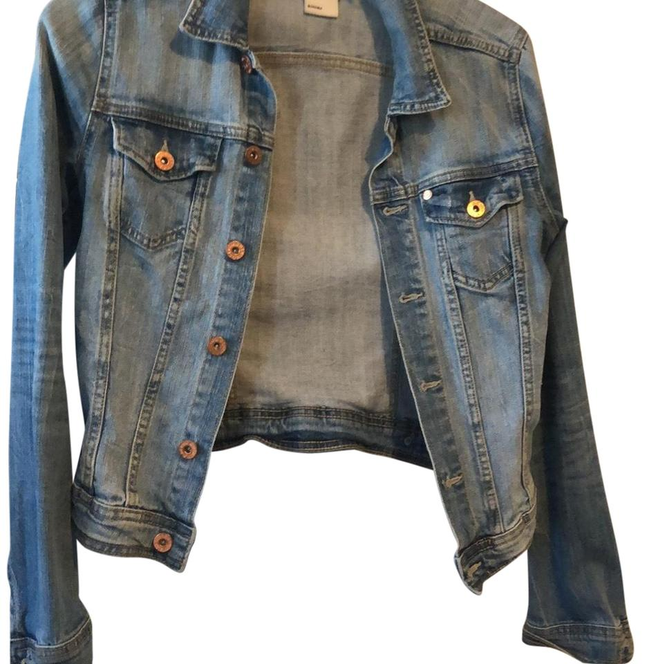 20e916ddcc5 H M light denim with some distressing on the back Womens Jean Jacket Image  0 ...
