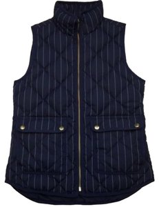 J.Crew Puffy Quilted Pinstripe Vest