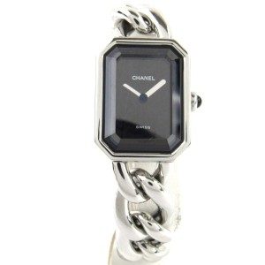 chanel CHANEL Stainless Premiere Chaine Quartz Watch L Black
