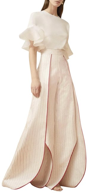 Item - Red/Off White Genny Palazzo Pants Size 2 (XS, 26)