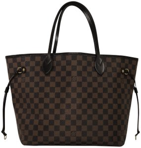 Louis Vuitton Lv Neverfull Mm Damier Canvas Shoulder Tote In Brown