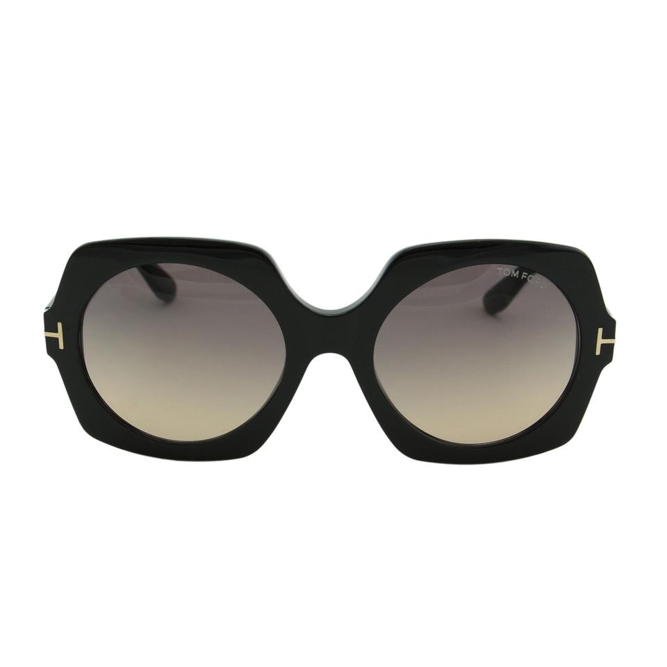 7e21a6ab77 Tom Ford Black New Tf Sofia Ft0535 01b Women Square Thick Frame T Logo  Sunglasses