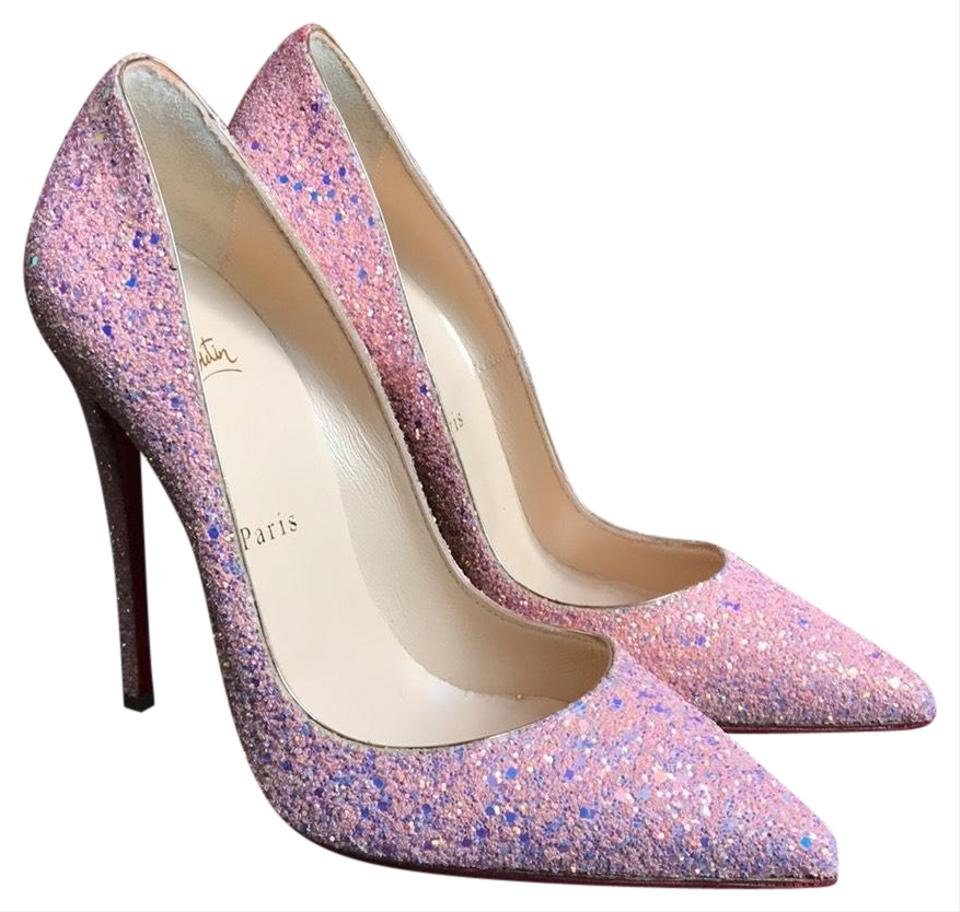 wholesale dealer 75860 e91a9 Christian Louboutin Pink So Kate Glitter Leather Pumps Size EU 37.5  (Approx. US 7.5) Regular (M, B) 34% off retail