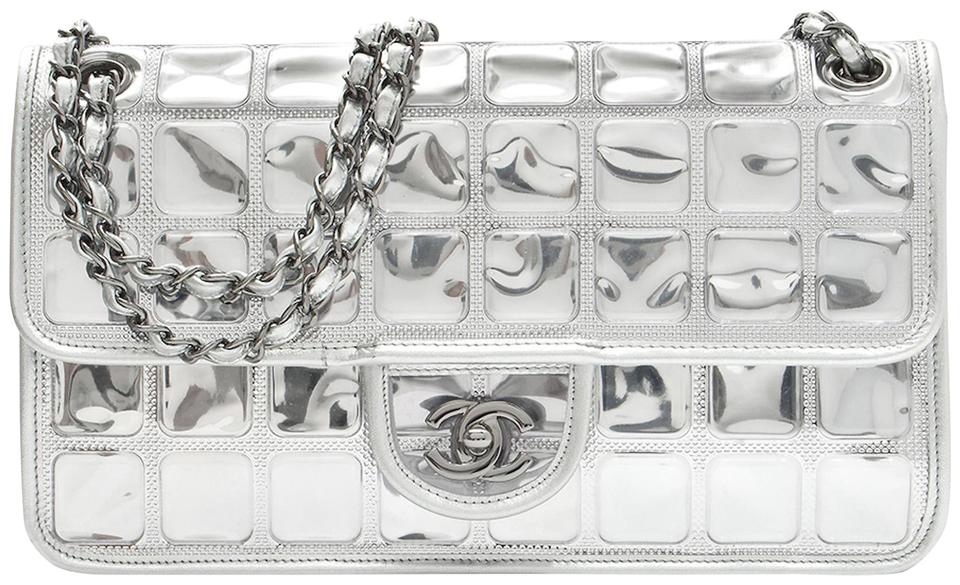 941d5203437e Chanel Ice Cube Flap Metallic Silver Leather Shoulder Bag - Tradesy