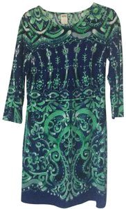 Ali Ro short dress Turquoise/Green on Tradesy