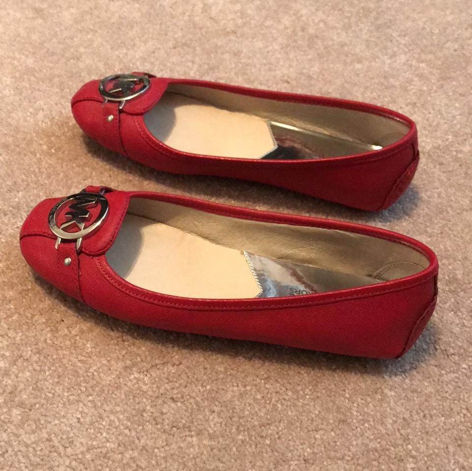 fa4d07429aa1 MICHAEL Michael Kors Red Lillie Leather Moccasin Flats Size US 8 ...