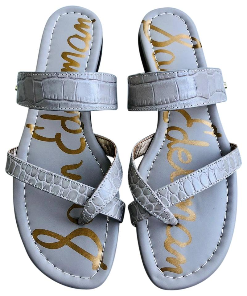 a1d472257e48 Sam Edelman Gray Bernice Embossed Leather Strappy Sandals. Size  US ...