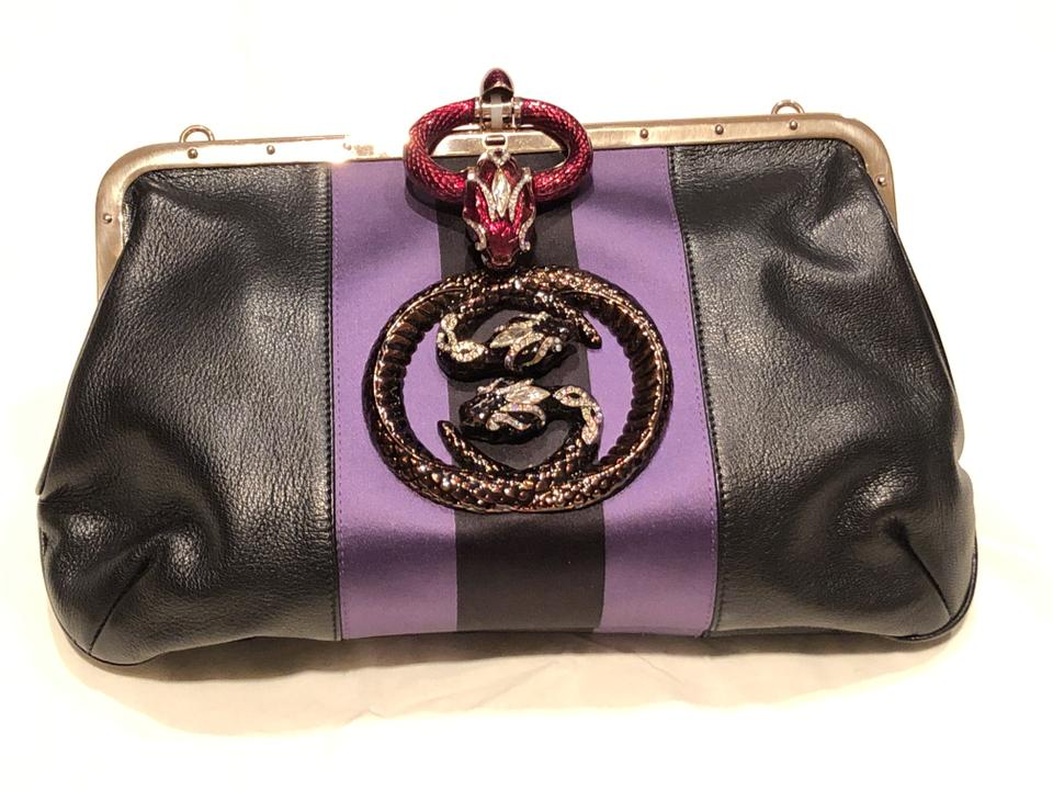 65062d10fdefa Gucci Clutch By Tom Ford Rare Vintage Serpent (Highly Collectible) Black  Leather Shoulder Bag 59% off retail