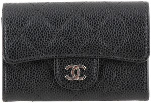 Chanel Chanel Quilted Caviar Card Holder