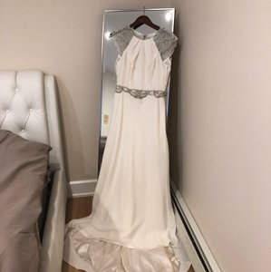 White Worn Once On My Last Year Modest Wedding Dress Size 6 (S)