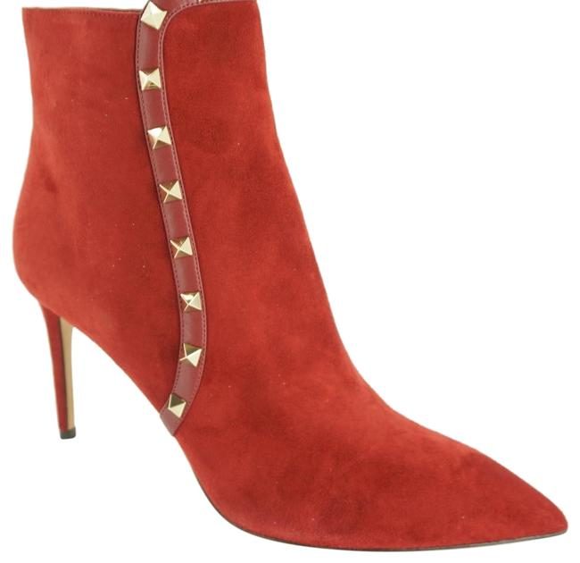 Item - Red Suede Rockstud Pointed Toe Studded High Boots/Booties Size EU 40.5 (Approx. US 10.5) Regular (M, B)