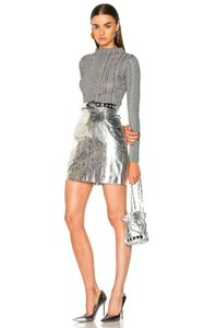 Item - Silver Leather Skirt