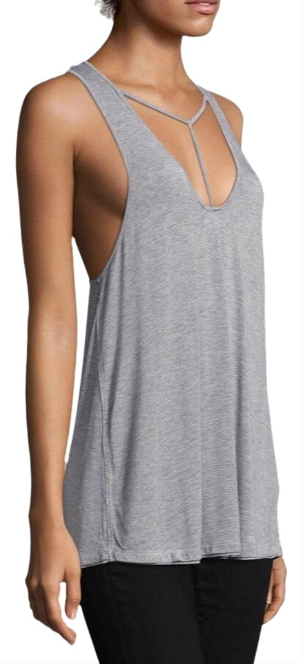 aded421ec7514 Free People Gray Strappy Front Amelia Nwot Tank Top Cami Size 4 (S ...