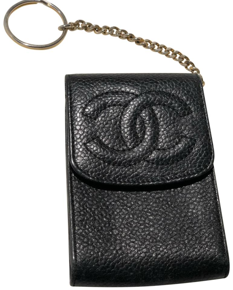 a9c8f9a39ffa Chanel Black Key Pouch Cles Card Case Wallet - Tradesy
