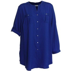 Calvin Klein 2x 18w 20w Button Down Shirt Blue