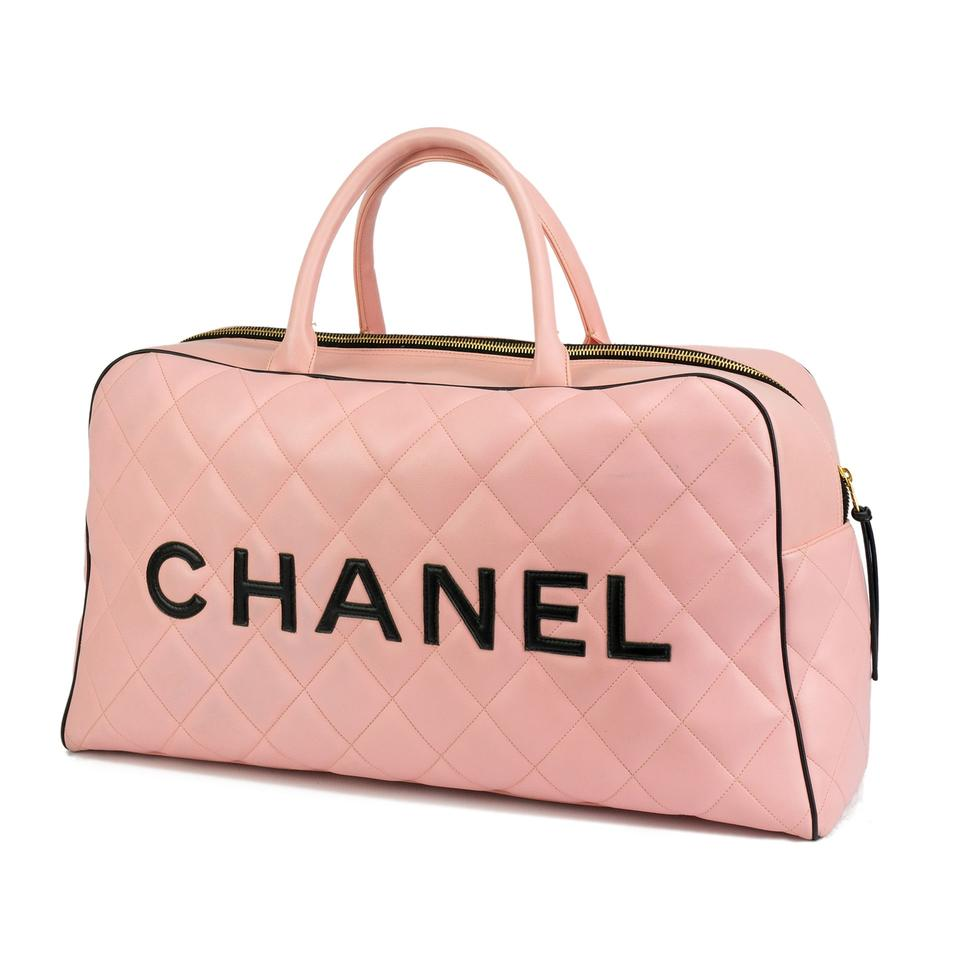 Chanel Timeless Rare Vintage 1990 Weekend Duffel Overnight Duffle ... 0bd078c6c8cd3