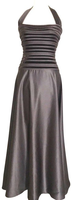 Item - Brown Halter Evening Gown Long Cocktail Dress Size 6 (S)