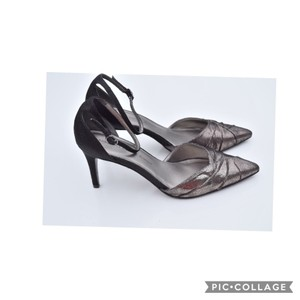 Adrianna Papell black & silver Mules