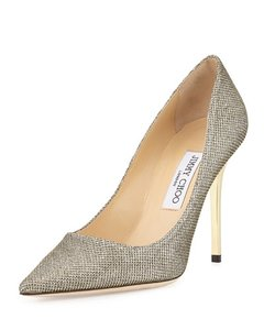 Jimmy Choo Abel Glitter Bronze Pointy Toe Wedding Shoes