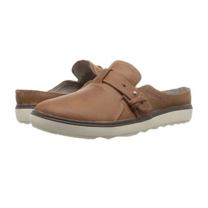 Merrell Flats Leather Brown Mules