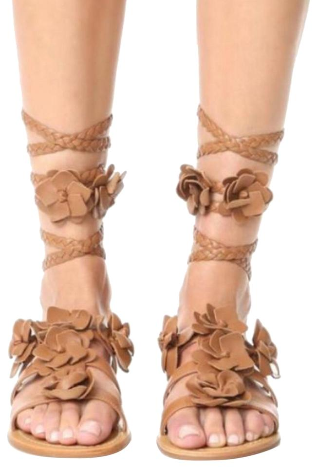 8866c0e3777 Tory Burch Tan Royal Blossom Gladiator Sandals-new Sandals Size US ...