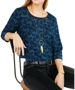 Pins and Needles Top Blue