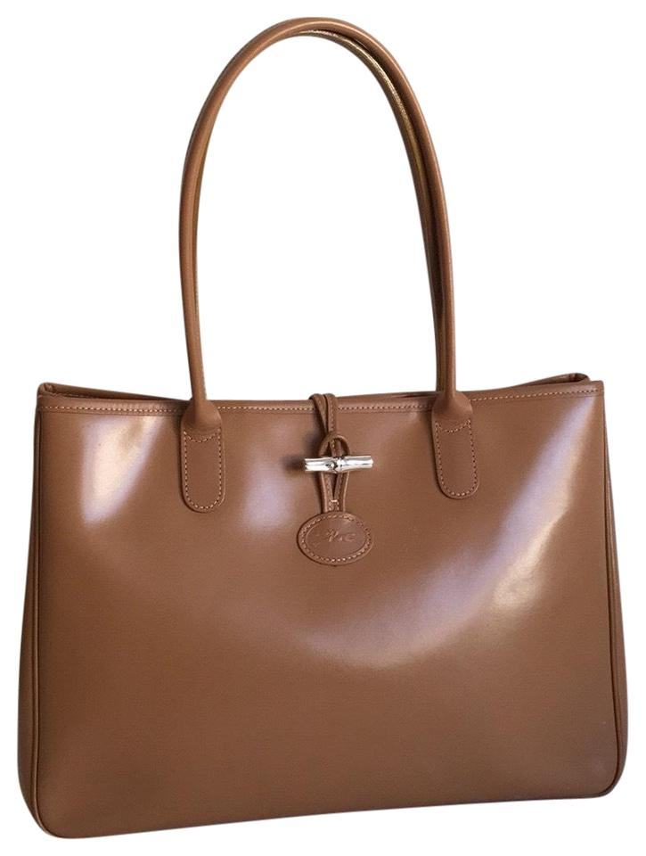 Longchamp Roseau Brown Leather Tote - Tradesy bc4aed595b572