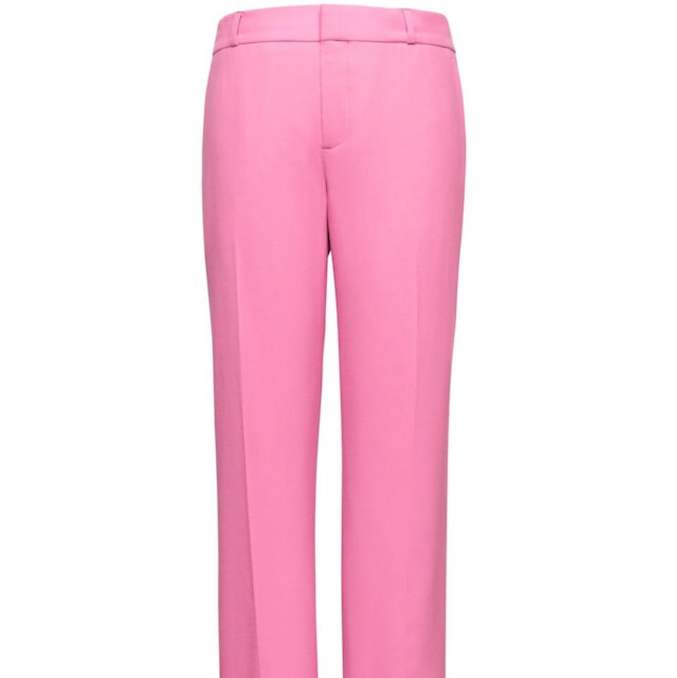 6fb0da96755d Banana Republic Pink Avery Straight-fit Lightweight Wool Ankle Pants ...