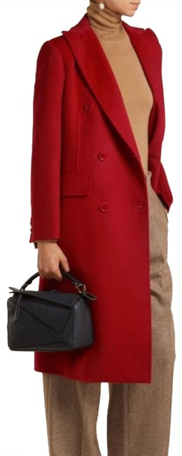 Item - Red Lillo Double Breasted Wool Coat Size 4 (S)