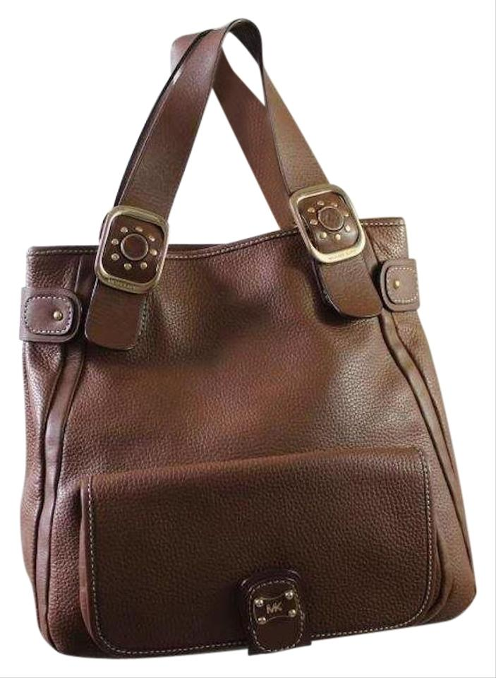 23e02b6a938b MICHAEL Michael Kors Pebbled Creamy Brown Leather Tote - Tradesy