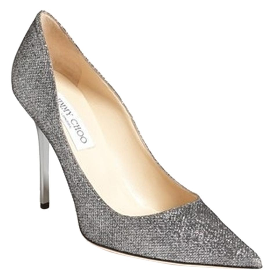 28bc641003b Jimmy Choo Abel Glittery Sparkly Pointy Toe Wedding Prom Night Out silver  Pumps Image 0 ...