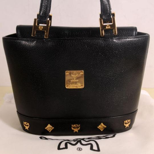 f84c5b854cc9e6 MCM Studded Tote 869441 Black Leather Shoulder Bag - Tradesy