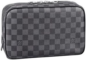Louis Vuitton Damier Graphite Toilet Pouch GM King Cosmetic Dopp Travel Kit N47521
