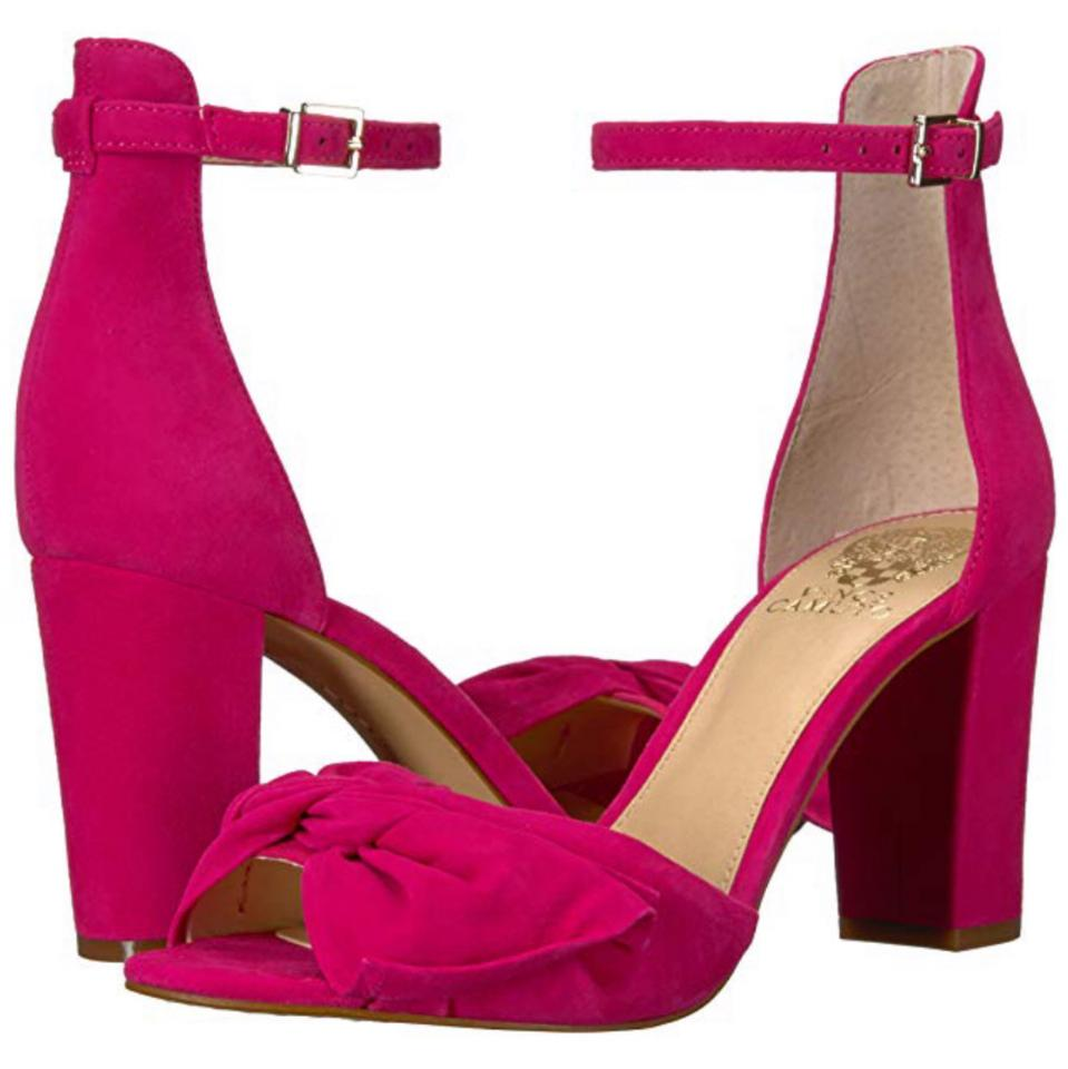b26aa0ab6 Vince Camuto Hot Berry Pink Women s Carrelen Heeled Sandal Pumps ...
