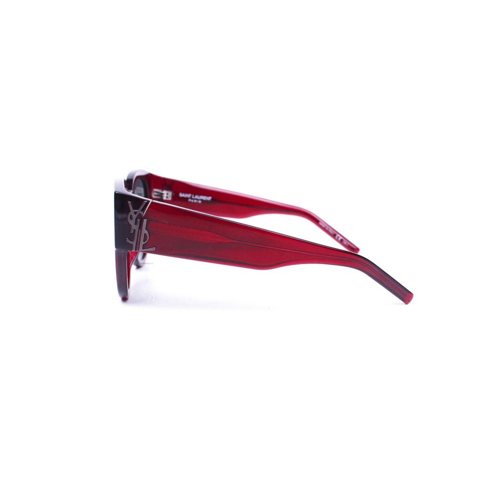 685f35618d4 Saint Laurent Red Frame Sunglasses with YSL Logo Image 11. 123456789101112