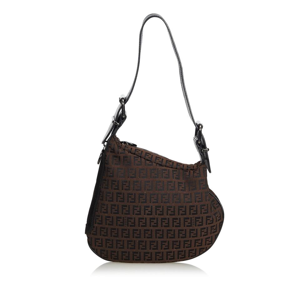 3b17de0358a1 Fendi Zucchino Oyster Brown Canvas Hobo Bag - Tradesy