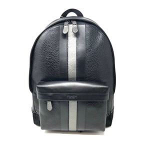 e4bac6fb Coach Men's Charles with Baseball Stitch Black Leather Backpack 63% off  retail