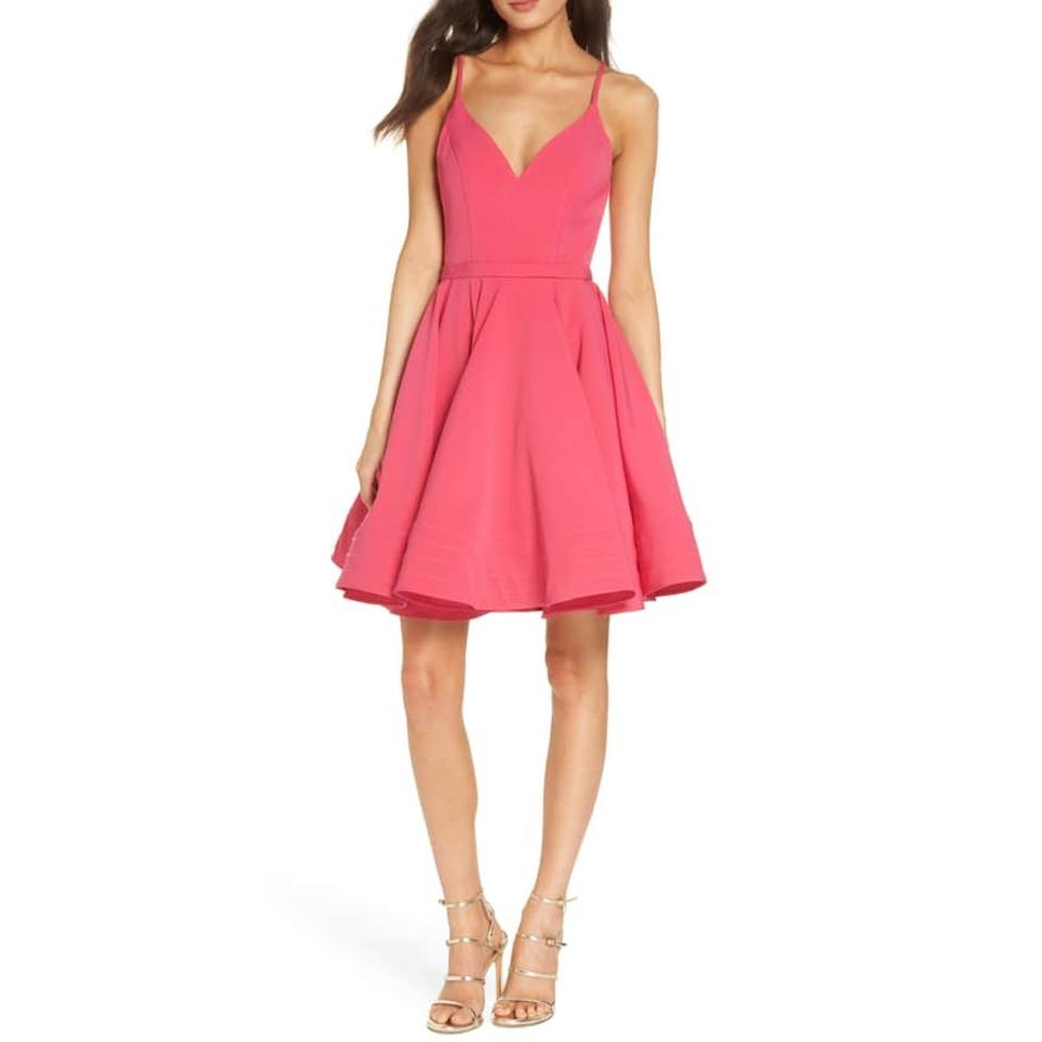 Pink Fit and Flare Cocktail Dresses