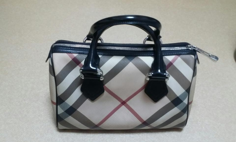 Burberry Chester Nova Check Top Handle Classic Boston Pvc Leather ... a5564a6a9393e