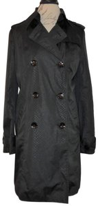 Attention Snakeskin Double Breasted Trench Coat